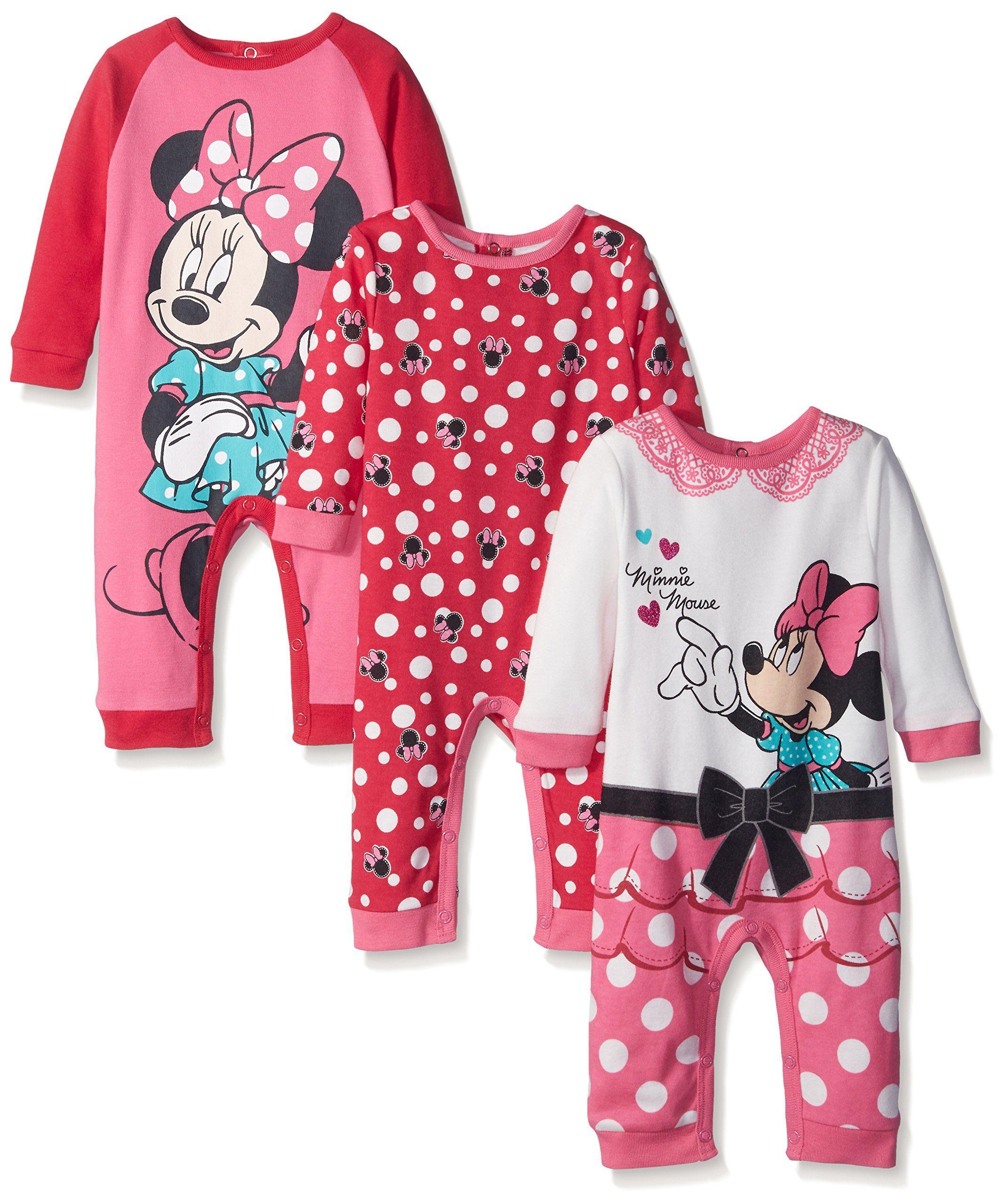 Disney Baby 3 Pack Minnie Coveralls 2c6f9f12e