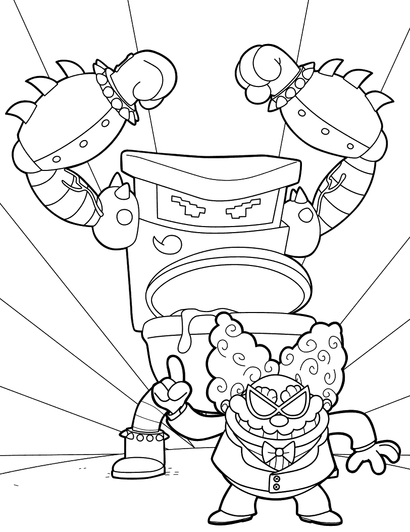 new coloring pages added all the - Captain Underpants Coloring Pages