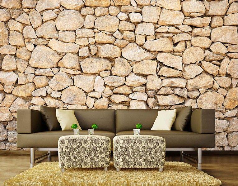 Fototapete Steinmauer Foto- \ Designtapeten Pflanzen \ Natur - tapeten und farben