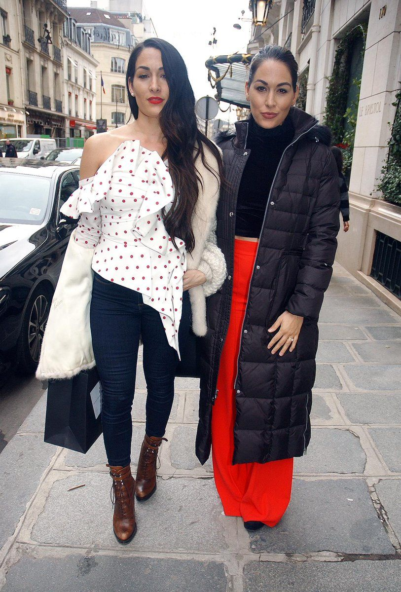 Nikki And Brie Bella In Paris