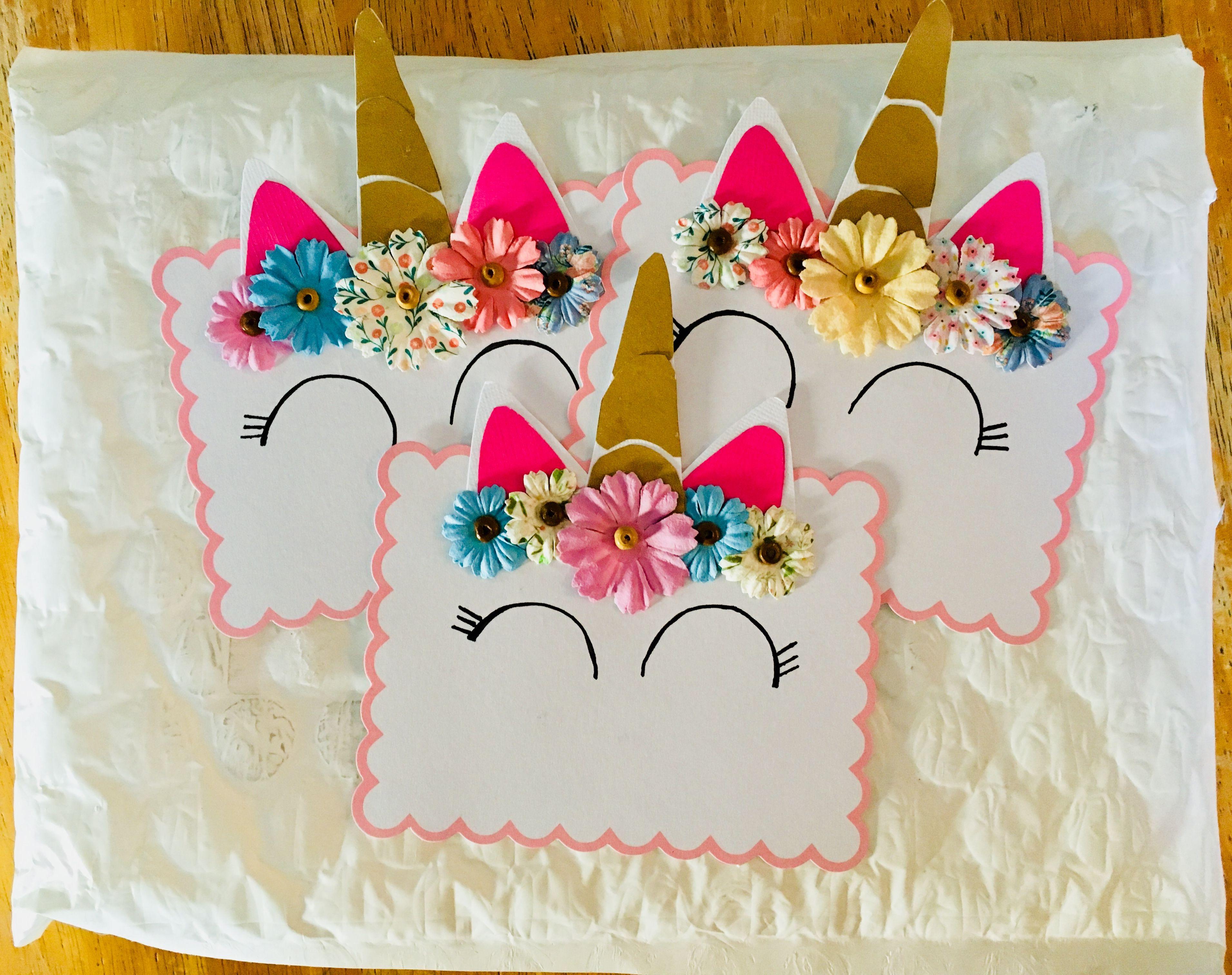Unicorn Birthday Party Invitation Diy For My Little Girls Bday