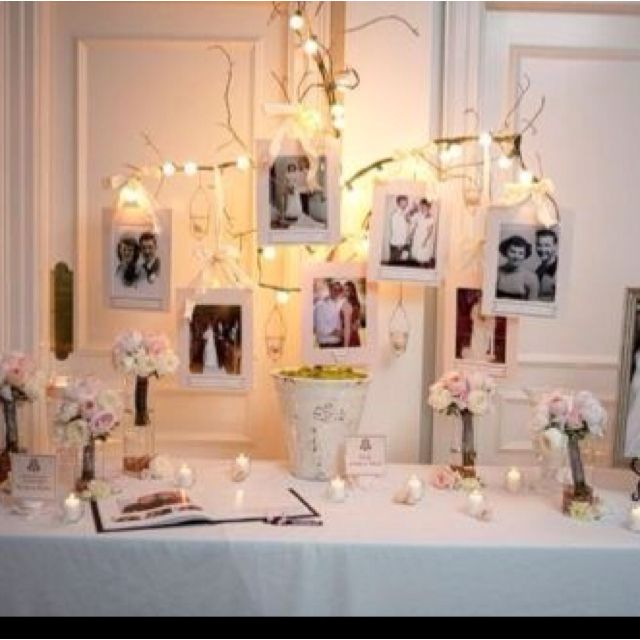 1st Wedding Anniversary Decoration Ideas At Home: Sign In Table /nice Touch With Family Members Wedding Day