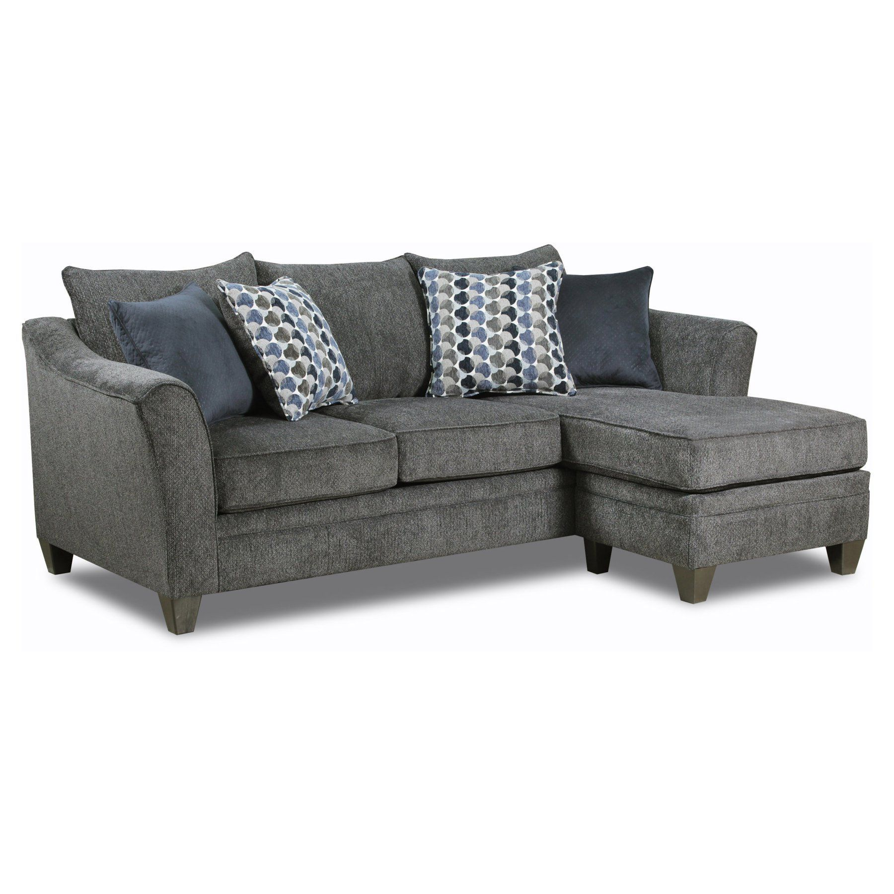 Simmons Upholstery Albany Sofa With Chaise 6485 03sc Albany