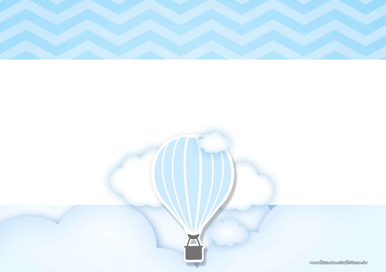Convite Balão de Ar Quente Azul 7 | Plantillas imprimibles ...
