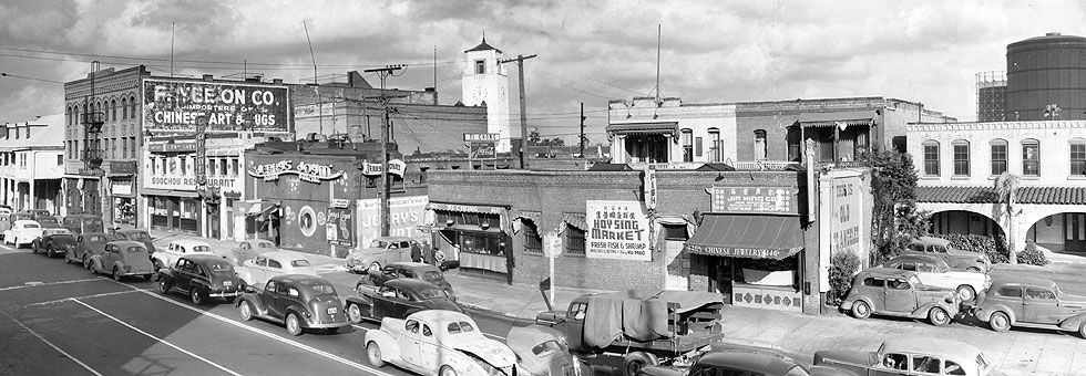 Photos Los Angeles Chinatown Then And Now Los Angeles History Los Angeles Sights Chinatown Los Angeles