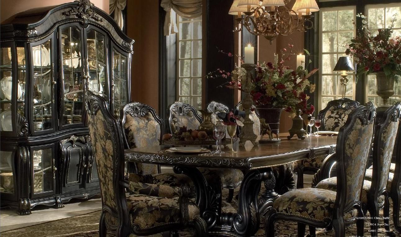 Thomasville Dining Room Sets Aico Oppulente Piece Rectangle Dining Set