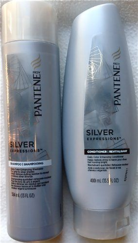 Pantene Silver Expressions Daily Color Enhancing Shampoo and ...