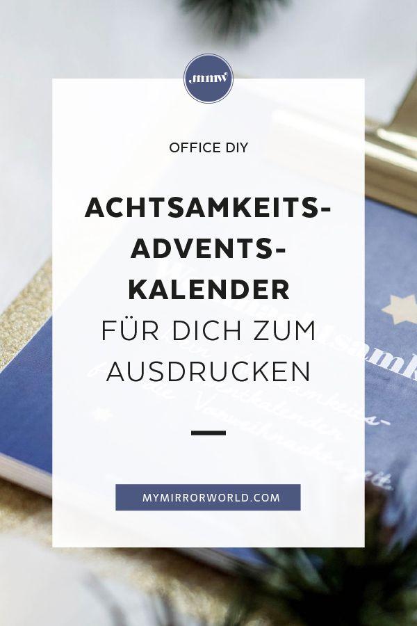 DIY Achtsamkeits-Adventkalender   Idee   Weihnachten ...