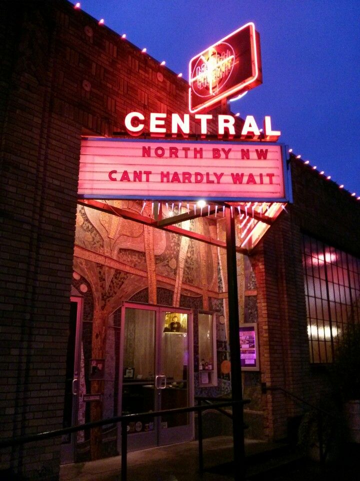 Central Cinema Seattle, WA Black and white movie