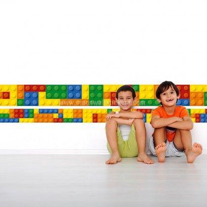 lego border wall sticker - moon wall stickers | lego