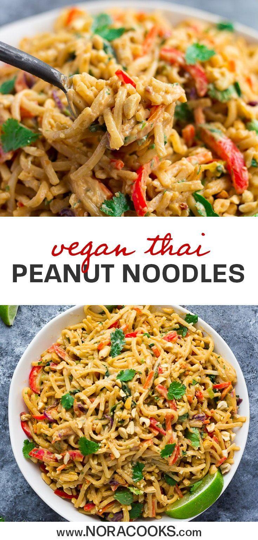 Photo of Thai Peanut Noodles – Nora Cooks –   – #cooks #essenvegetarisch #noodles #Nora #…