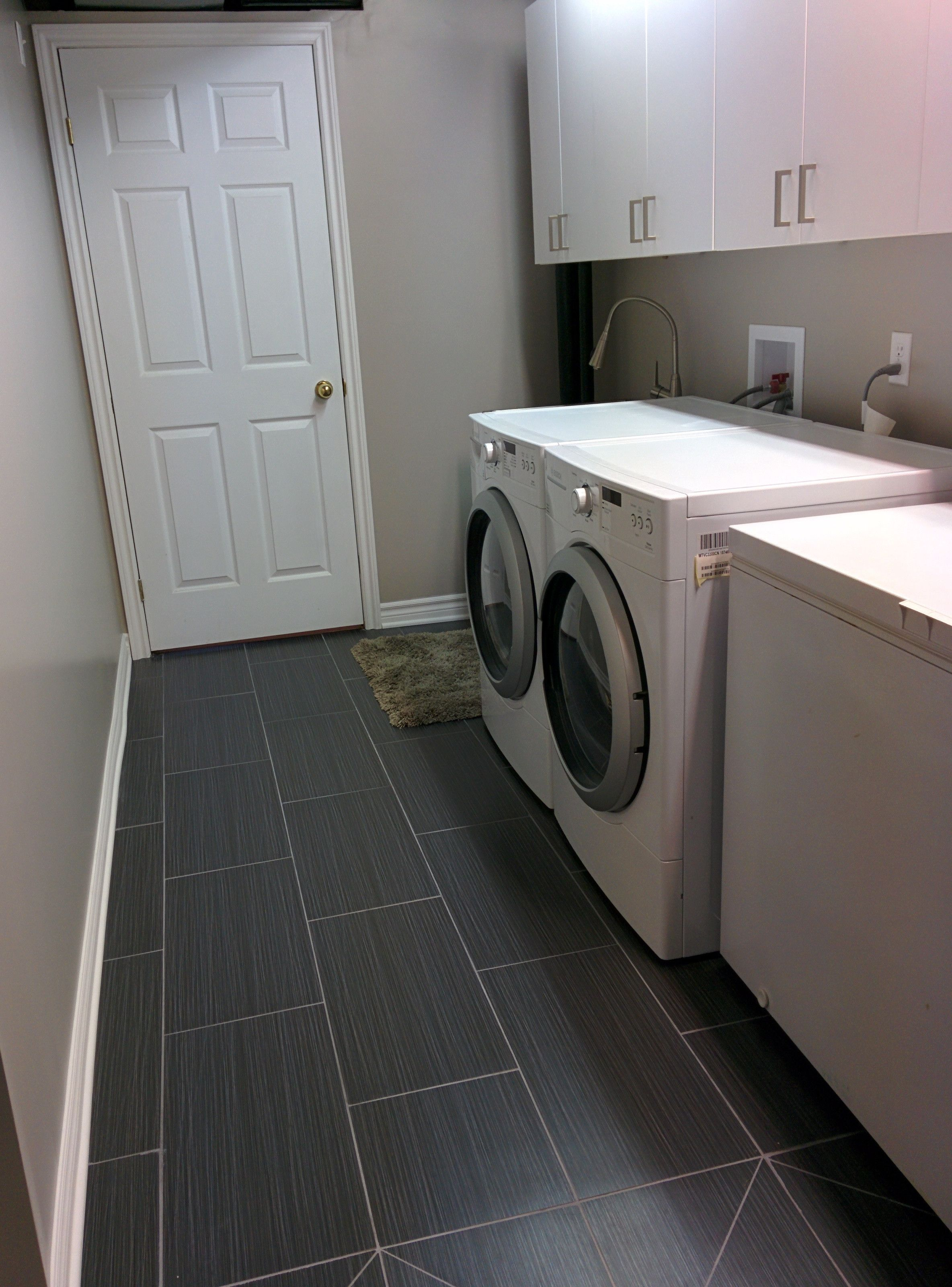 Basement Laundry Reno Laundry Room Diy Laundry Room Tile