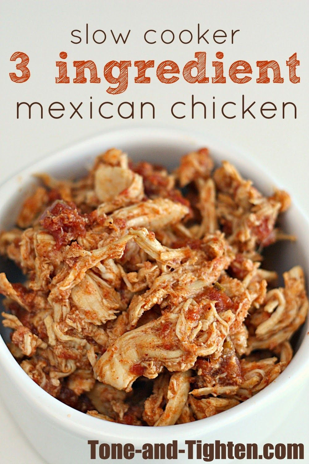 Slow Cooker 3 Ingredient Mexican Chicken Recipe #mexicanchickentacos