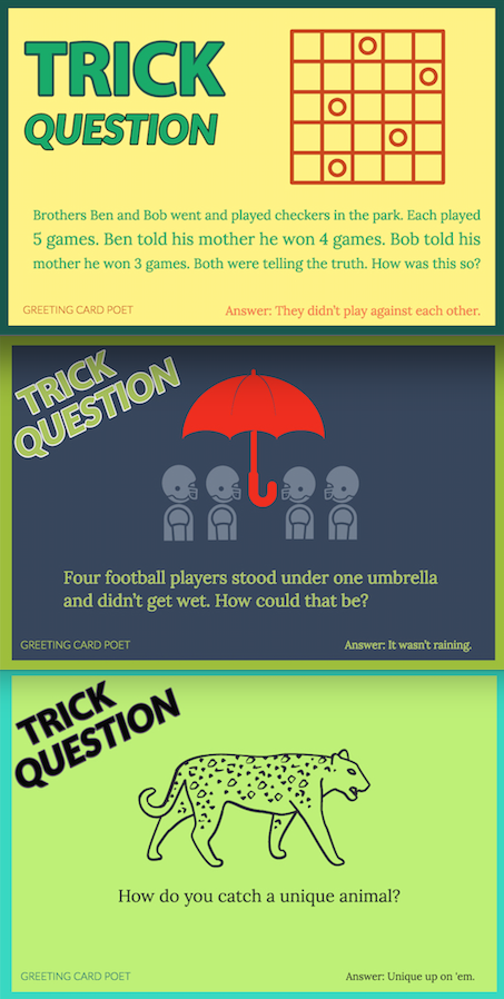 101 Trick Questions Baffle and Bewilder the Best Minds