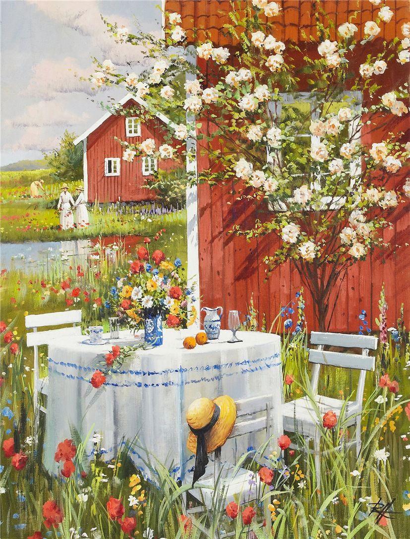 ЛетнееПикниковое... Roald Hans Hansen (Danish, born 1938 ). Обсуждение на LiveInternet - Российский Сервис Онлайн-Дневников