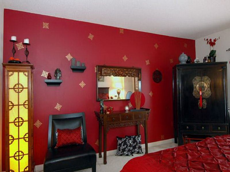Awesome Red Bedroom Wall Painting Ideas Part - 13: Red Bedroom Wall Painting Ideas