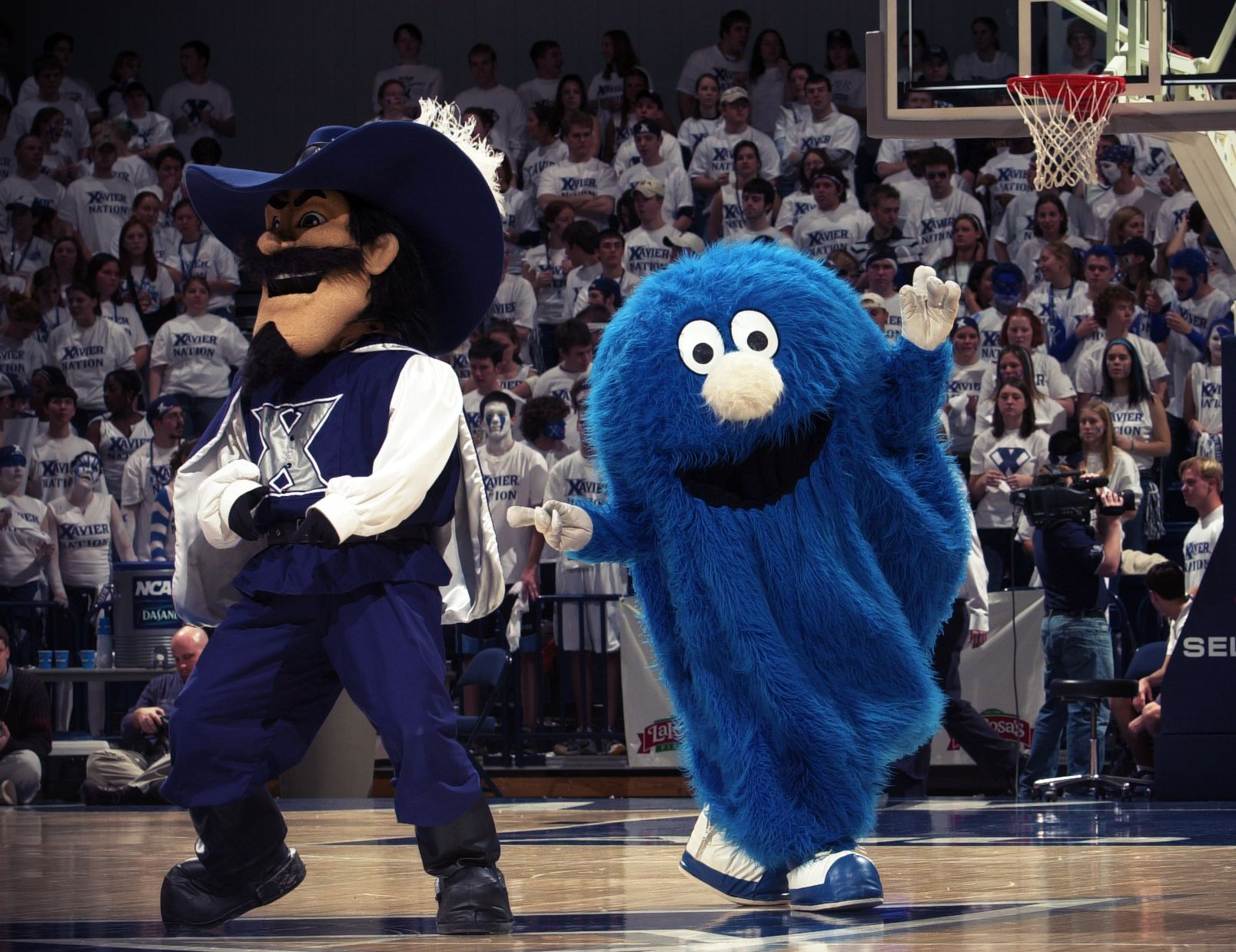Xavier color printing - The Xavier Blue Blob And Musketeer