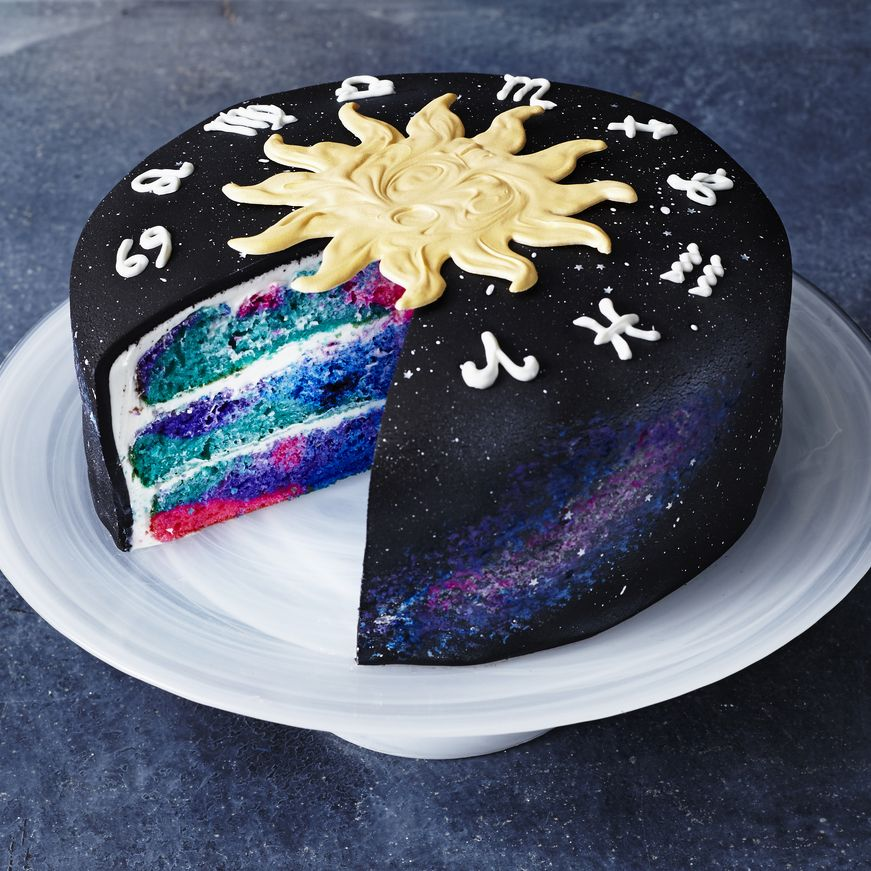 Zodiac Cake Recipe Galaxy cake, Cake, Cake decorating