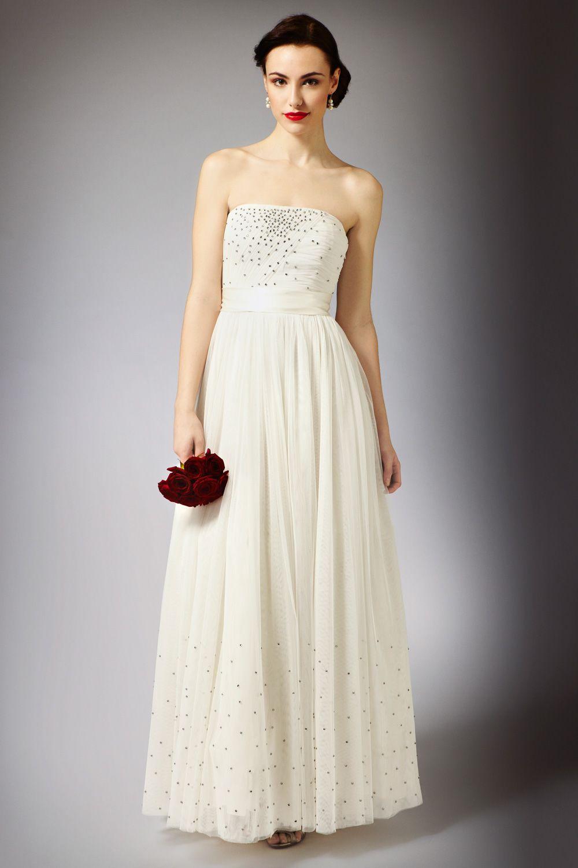 Rhinestone wedding dresses  Simple rhinestones wedding gown   Vintage inspired wedding