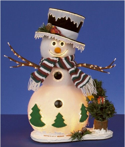 how to make snowman christmas decorations