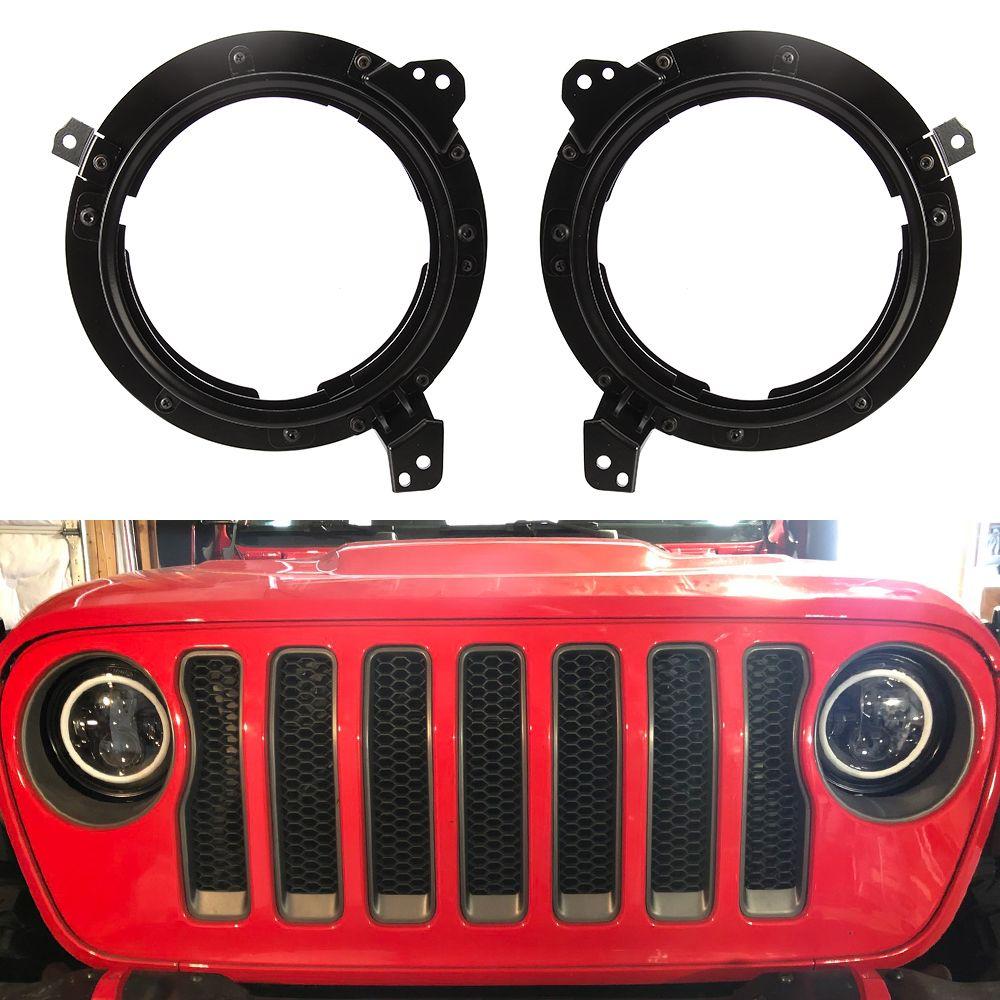 7 Inch Led Headlight Adapter Bracket For Jeep Wrangler Jl Jlu