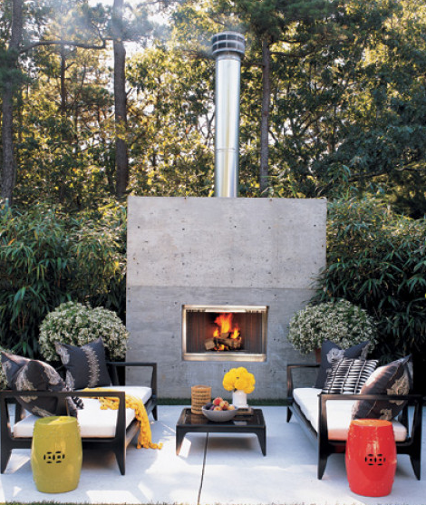The Outdoor Dining Area Of An East Coast Vacation Home Features