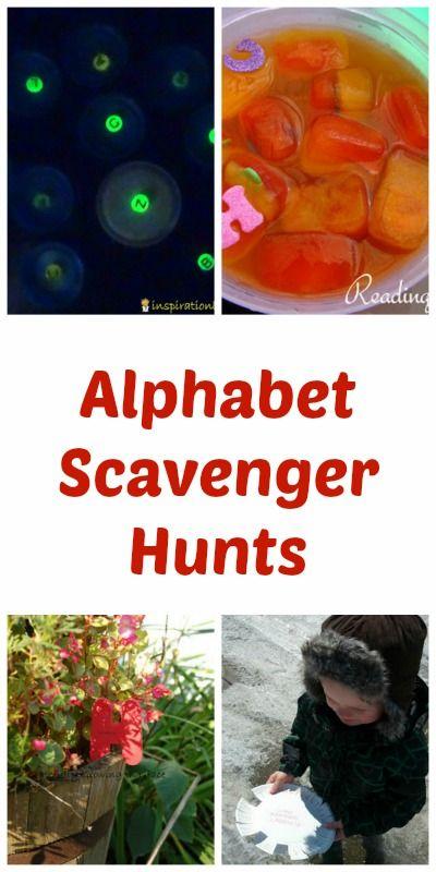 Alphabet Scavenger Hunts for Kids
