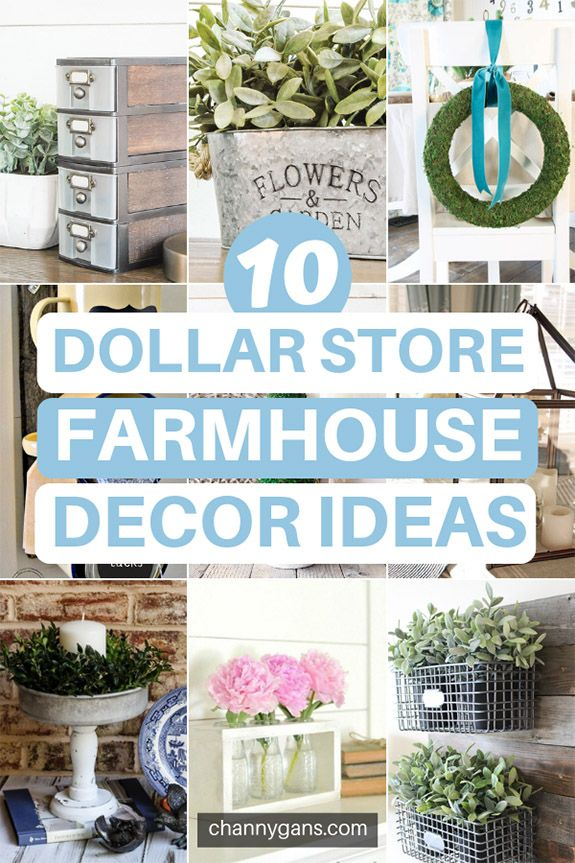 Are you loving Farmhouse style decor right now Luckily you can easily DIY farmhouse decor with these easy dollar store farmhouse decor ideas and tips