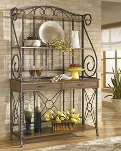 Wrought Iron Bakers Rack Bakers Rack Decorating Bakers Rack