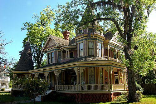 W F Monroe House 1896 Valdosta Fairview National Register Historic District Victorian Homes Victorian Architecture Valdosta