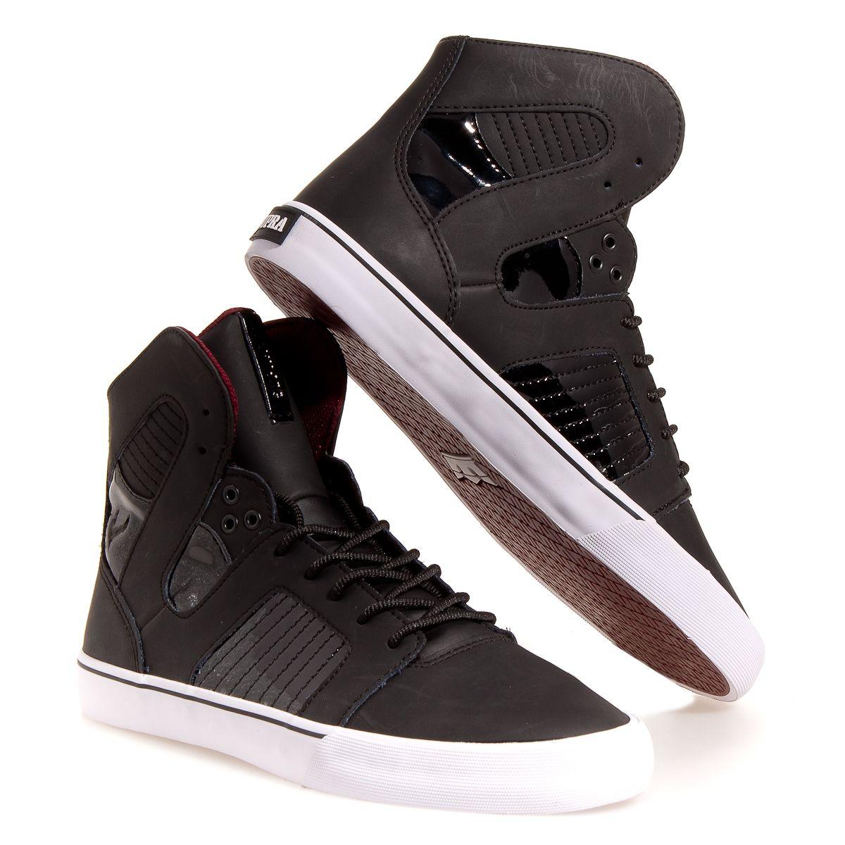 Supra Pilot Men's Skate Shoes: Black 7.5