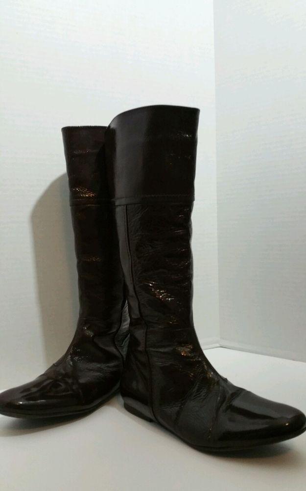 Steve Madden brown patten leather calve length boots size 9 sexy 101153-A-19 #SteveMadden #casualanddress