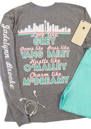 Love Like Grey Sweatshirt Greys Anatomy Shirt Clothes Shopping