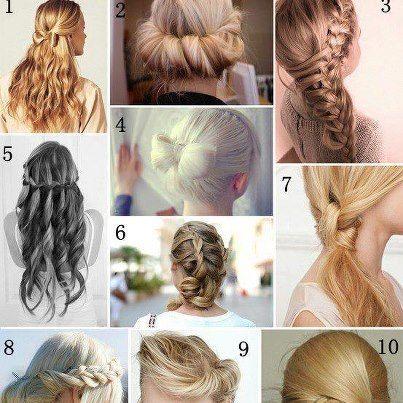 Coiffure sympa et facile cheveux long