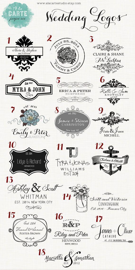 Wedding Ideas Wedding Logos Wedding Stamps Wedding Monogram Wedding Crest Wedding Emblem Wedding Thank You Big L