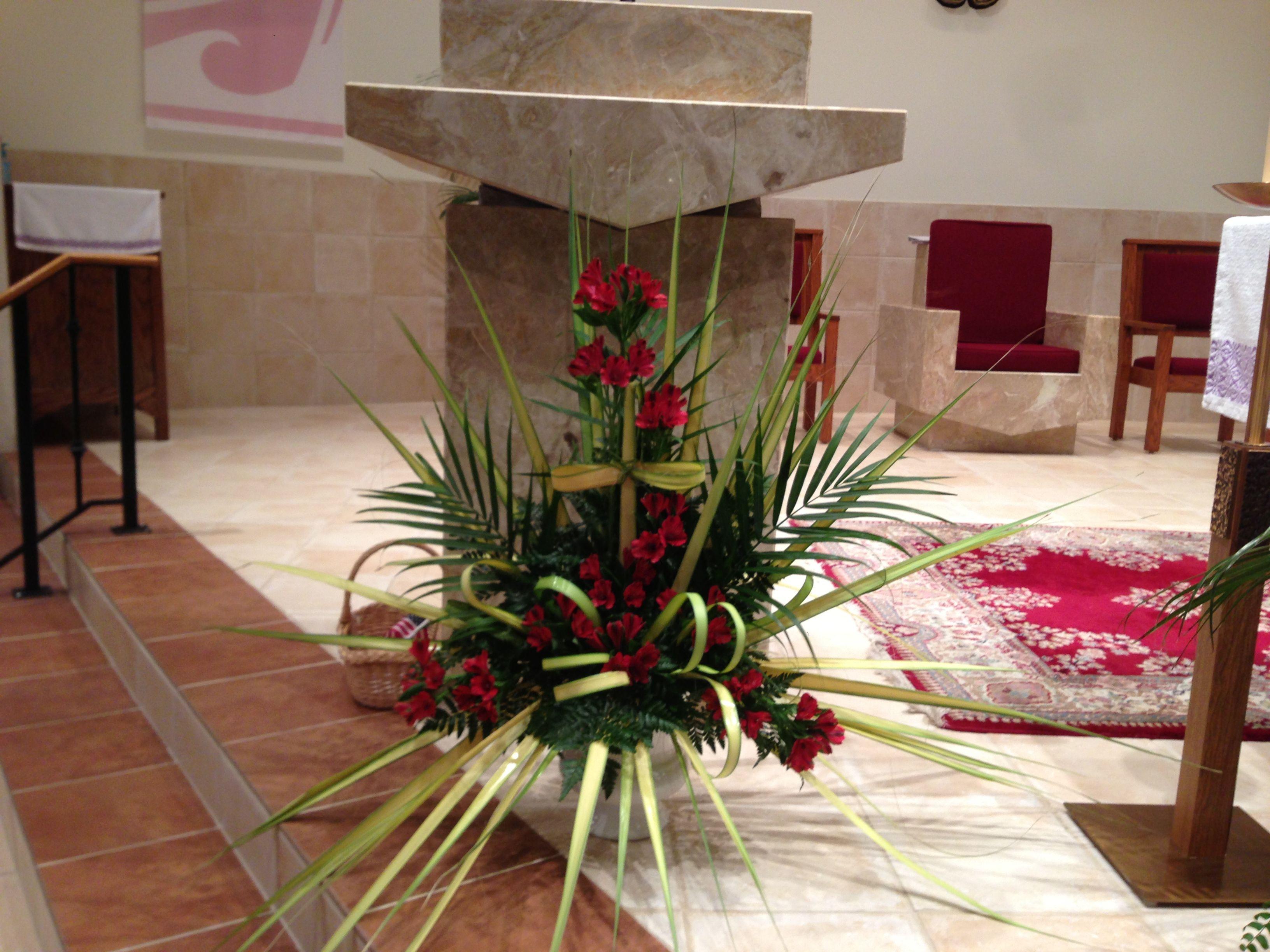 Church Flowers On Palm Sunday Arranjos De Flores Decoracao
