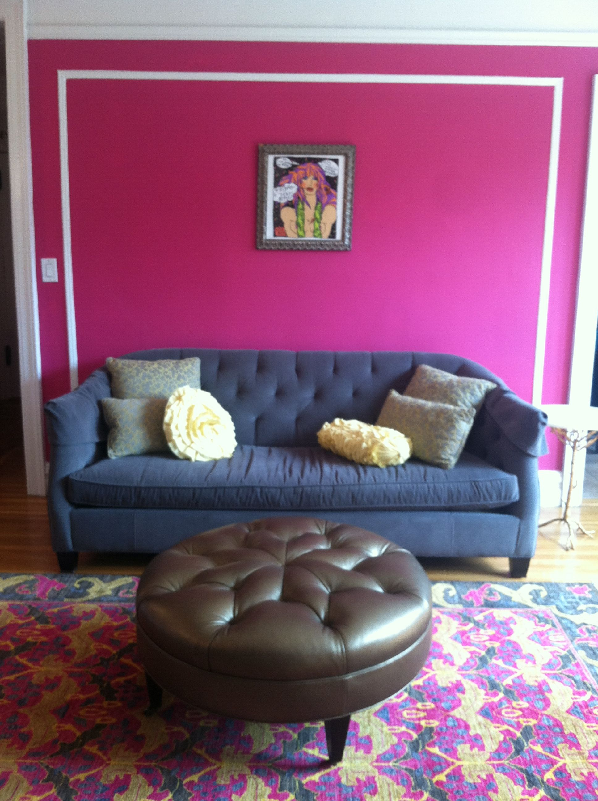Paint colors that match this Apartment Therapy photo: SW 6847 Ice ...