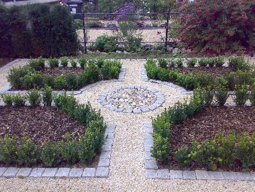 formal garden design gravel #gardendesign   Front yard ...