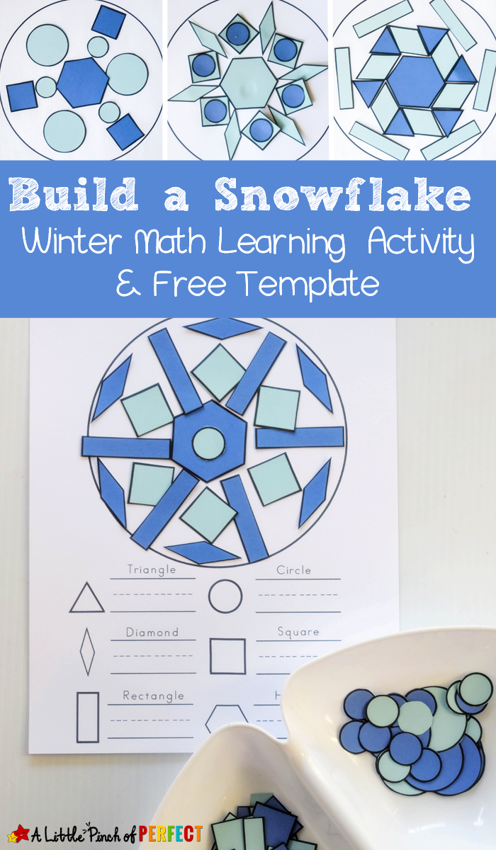 Bauen Sie eine Schneeflocke Winterform Mathe Aktivität und kostenlose Vorlage aktivitat bauen kostenlose mathe schneeflocke vorlage winterform