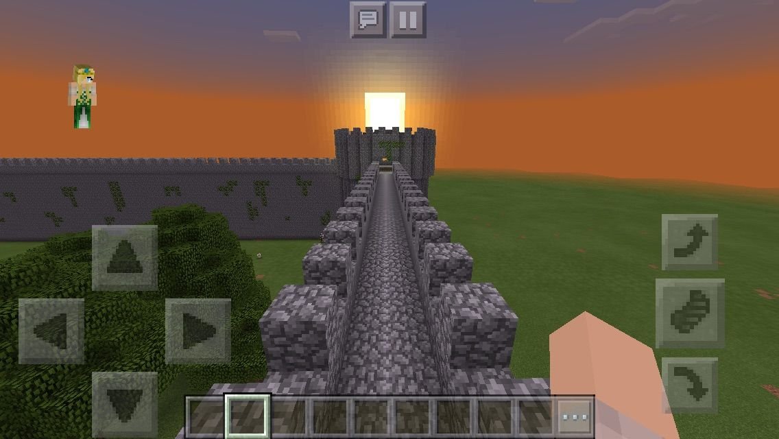 Minecraft Glasscheibe chaisleán na mban glas green castle castle wall minecraft
