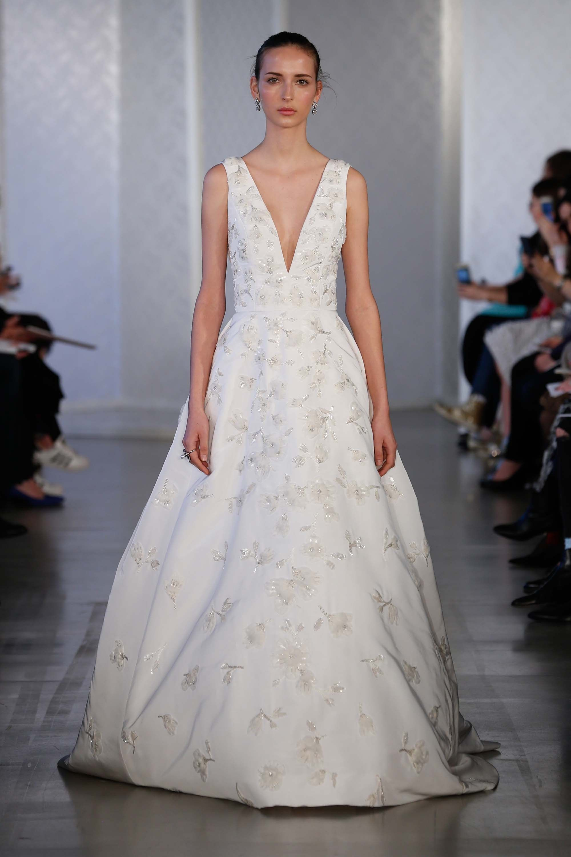 Oscar De La Renta Bridal Spring 2017 Fashion Show Weddings