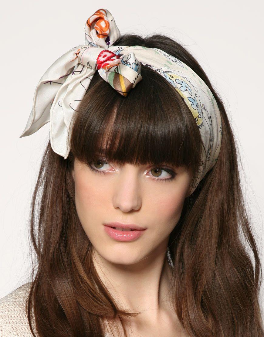 cute hair scarf   hair & beauty   scarf hairstyles, cute