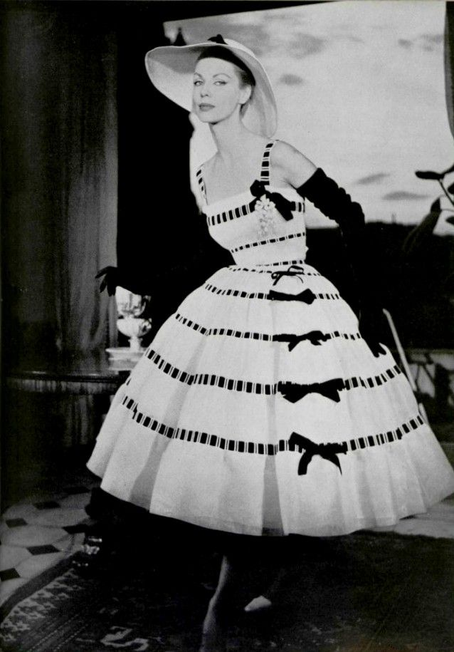 Christian Dior, Spring 1957 Couture, by Joseph Grove for L'Officiel