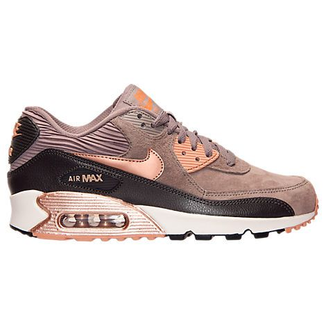 Women's Nike Air Max 90 Leather Running Shoes - 768887 201 | Finish Line