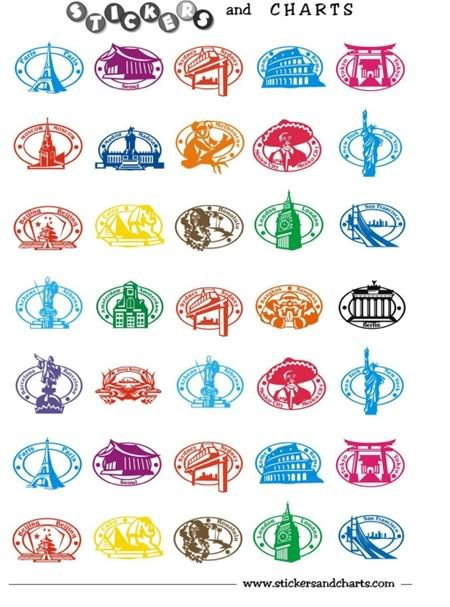 Free Printable Stickers Can Be Used For Passports Etc Travel