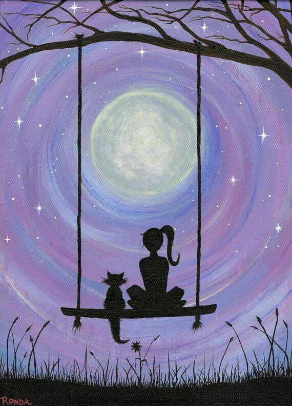 Resultado De Imagen De Easy Canvas Painting Ideas Cats Sanatsal Resimler Tuval Resimleri Tuval Sanati