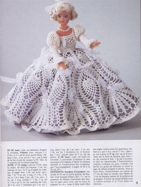 Patrones de vestidos de barbie a crochet - Imagui | ROPA de MUÑECAS ...