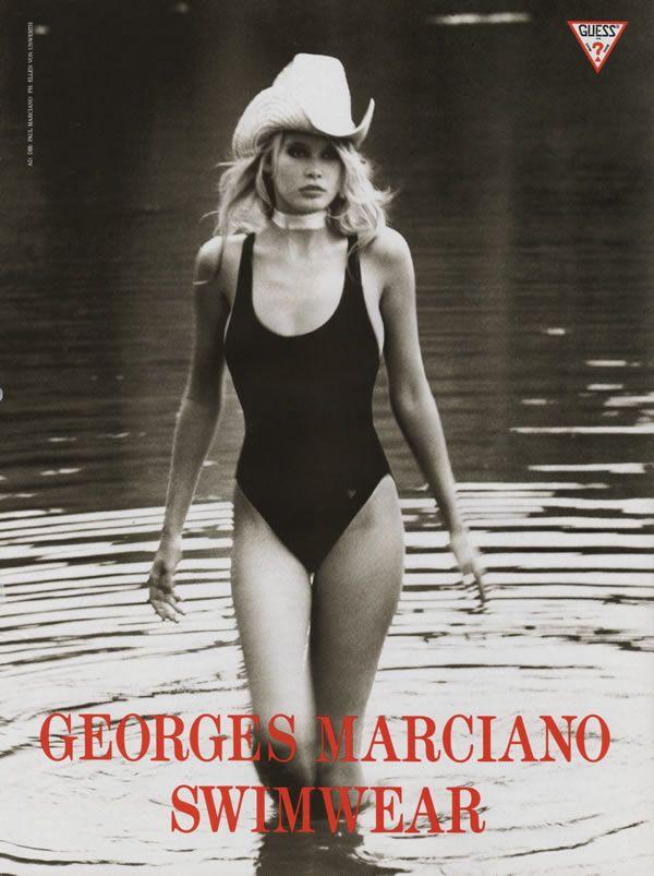 3c8cfea6b4 Claudia Schiffer. swimwear with cowboy hat... awesome.