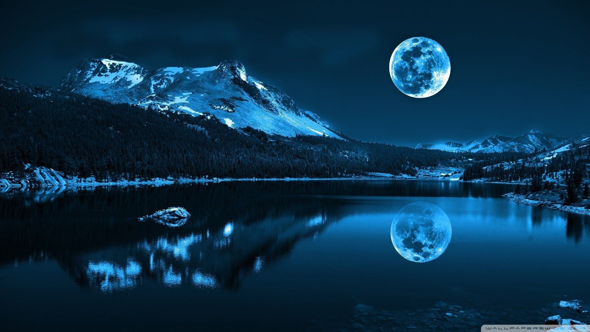 Moonlight Night Ultra Hd Wallpaper For 4k Uhd Widescreen Desktop Tablet Smartphone Aero In 2020 Beautiful Nature Beautiful Moon Beautiful Landscapes