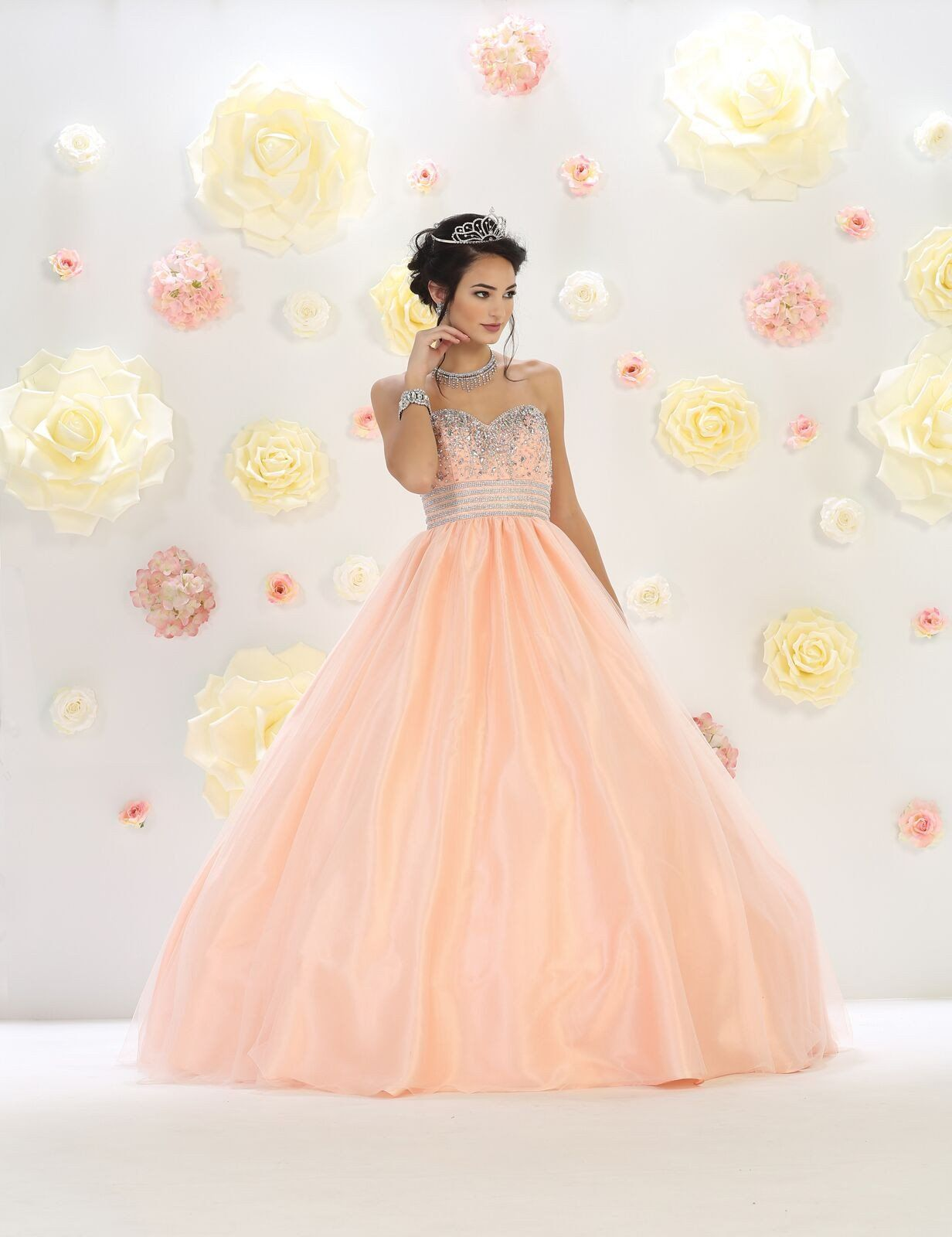 Long quinceanera formal prom dress products pinterest tulle